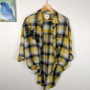 Anthropologie Maeve button down plaid top/tunic